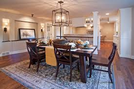 french toile decorative with area rug dining room traditional and