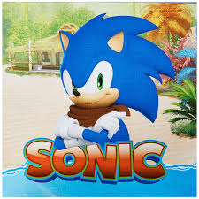 sonic party supplies sonic boom lunch napkins this party started