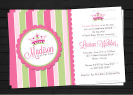Paper Invitations Little Princess Baby Shower Invitations Little Princess Royal Pink