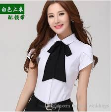 bow tie blouse plus size plus size xs 4xl sent bow tie shirt tooling formal slim