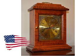 amish tiger maple mantle clock jasen u0027s fine furniture since 1951