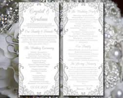 Diy Wedding Ceremony Program Wedding Programs Etsy