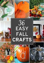 Simple Fall Crafts For Kids - 36 easy fall crafts
