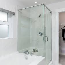 Diy Frameless Shower Doors Wonderful Frameless Shower Enclosures Glass World Bathtubs Drop In