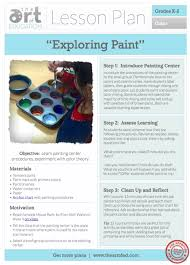 exploring paint free lesson plan download the art of ed