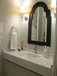 bathroom mirror ideas on wall bathroom frameless wall mirror with side lighting for bathroom