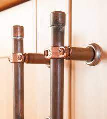 Copper Kitchen Cabinet Hardware Industrial Copper Cabinet Handle Home Kitchen U0026 Pantry Nine