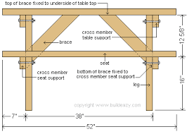 Free Plans For Outdoor Picnic Tables by Free Picnic Table Plans