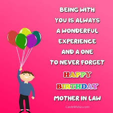 birthday card sayings mother in law birthday wishes for mother in