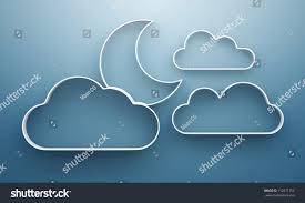 3d cloud moon shelves shelf design stock illustration 110871752