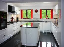 White Gloss Kitchen Cabinets by Kitchens With High Gloss Floor Tiles White Gloss Kitchen Cabinets