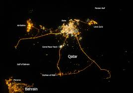 World Map At Night by Qatar At Night U2013 Geoinformation Online
