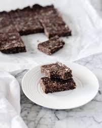 chocolate tahini energy bars gluten free fraiche nutrition