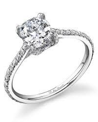cushion ring cushion cut diamond engagement rings martha stewart weddings