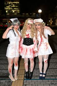 cute halloween nurses at the vamps halloween party from