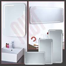 prissy design led bathroom mirrors with shaver socket cabinets