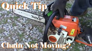 chainsaw chain will not move try this first quick tip youtube