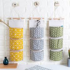 hanging ls for kitchen lsperal linen 3 pockets sundries storage bags multilayer wall
