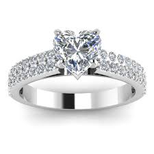 Heart Shaped Wedding Rings by Heart Shaped Engagement Ring Andino Jewellery