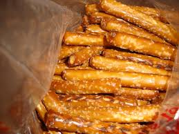 Bulk Barn Downtown Toronto Simmer And Glimmer Chocolate Covered Candy Coated Pretzel Sticks