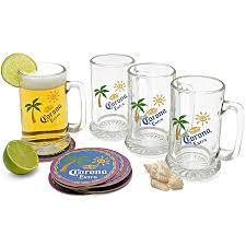 Old Fashioned Gift Set Corona Extra 16 Piece Beer Mug Gift Set