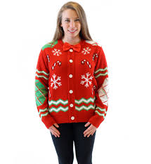 sweater with s canes and snowflakes button up