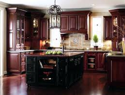 Cherry Wood Kitchen Cabinets With Black Granite Cherry Wood Kitchen Cabinet Cherry Kitchen Cabinets With Gray Wall