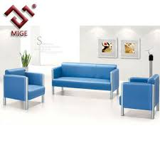 Blue Leather Sofa by Blue Leather Office Sofa Stainless Steel Frame Buy Office Sofa