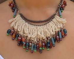 crochet necklace with beads images Bead crochet necklace for women wear adworks pk adworks pk jpg