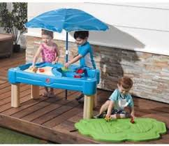 water table with cover step2 cascading cove sand and water table with cover ebay