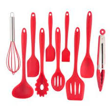 Red Kitchen Utensil Set - silicone cooking utensil set kitchen tools pinterest cooking