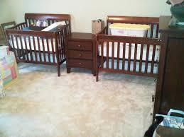 Convertible Mini Crib by Wooden Mini Crib With Changing Table U2014 Thebangups Table