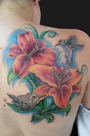 birds n flower tattoo on back shoulder tattoos book 65 000