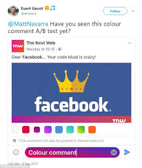 facebook testing colored comment feature daily mail online