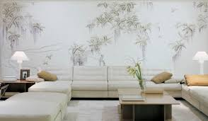 traditional wallpaper nature pattern floral hand painted