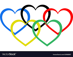olympic rings images Heart shaped olympic rings royalty free vector image jpg
