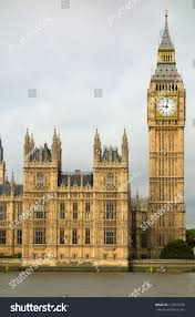 London Clock Tower by Big Ben Elizabeth Tower Houses Parliament Stock Photo 112819180