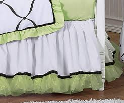 Black And Green Bedding Green Black And White Princess Baby Bedding 9 Pc Crib Set Only