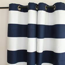 White And Blue Striped Curtains Curtains Pair 25 Wide Premier Print Cabana Horizontal Navy And