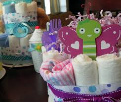 butterfly diaper cake one tier baby shower gift or centerpiece