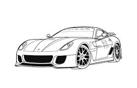 sport car free coloring download print 15453