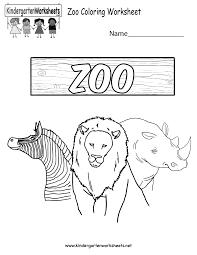 zoo coloring worksheet free kindergarten learning worksheet for kids