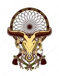 bull skull tattoo u2014 stock vector marrishuannna 106390178