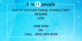 Sap Copa Resume Sap Fi Co Functional Consultant Resume Hire It People We Get