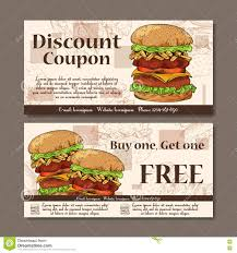 food templates free download voucher template design modern style for cafe restaurant coupon royalty free vector