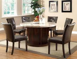 stunning round dining table setting ideas with brown floor and