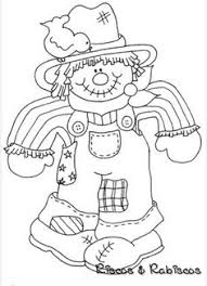 cute scarecrow coloring scarecrows worksheets thanksgiving
