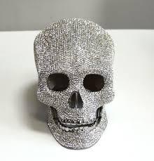 butler and wilson swarovski clear skull ornament in box