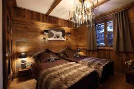 chambre bois déco intérieur style chalet idées pour atmosphère chaleureuse