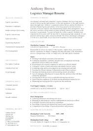 Assistant Manager Job Description For Resume Resume Catering Sales Manager Resume Objective Logistics Template